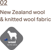 2. 02.	New Zealand wool & knitted wool fabric