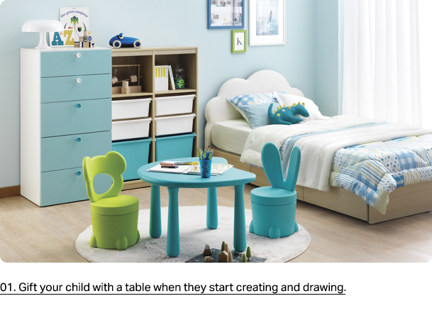 01. Gift your child with a table when they start creating and drawing.
