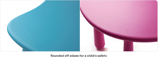 Rounded off edges for a child's safety