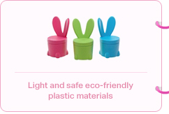 Light and safe eco-friendly plastic materials