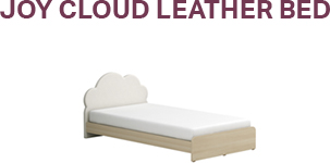 Joy Cloud Leather Bed