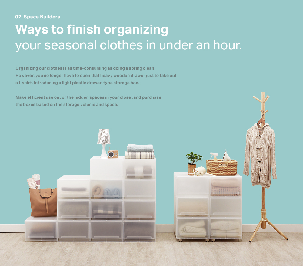 Ways to finish organizing your seasonal clothes in under an hour.