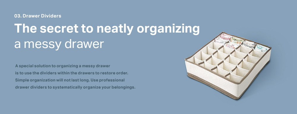 The secret to neatly organizing a messy drawer